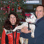 Owners Gina, Bill and the Admiral Enjoying TFE Christmas Festivities